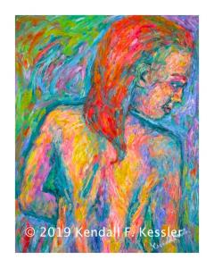 Blue Ridge Parkway Artist is Pleased with Latest Nude Painting and  Again with the Pet Rock...