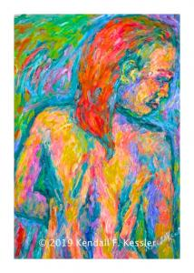 Blue Ridge Parkway Artist is Pleased with Latest Figure Painting and Be sure to Duck...