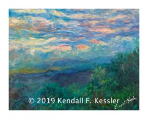 Blue Ridge Parkway Artist Finished Latest Blue Ridge painting  and Still Time to Vote for my Work