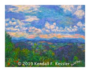 Blue Ridge Parkway Artist Presents new painting of Buena Vista...