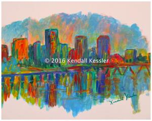 Blue Ridge Parkway Artist is Pleased to sell another print of Richmond on the James