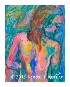 Blue Ridge Parkway Artist is Happy with Current Painting and Not changing the lock...