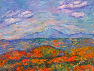 Blue Ridge Parkway Artist is Pleased with latest painting and You are on the Show...