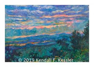 Blue Ridge Parkway Artist is Pleased to sell another Blue Ridge Painting