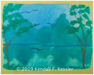Blue Ridge Parkway Artist Saw Another Day Shot out of a Cannon...