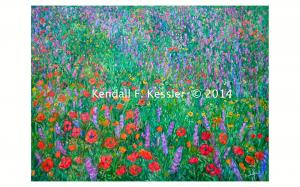 Blue Ridge Parkway Artist is Waiting for Paint to Dry and Ripe Fruit...