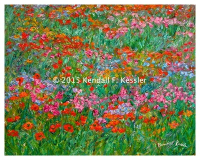 Blue Ridge Parkway Artist is so Happy with Latest Painting...