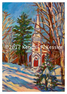 Blue Ridge Parkway Artist is Working on Commissions and Staring at Grey Skies...